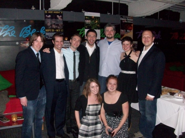 Top Row (l-r): Scenic Designer Josh Windhausen, Dramaturg Russ Dembin, Cast member Jason Jacoby, Director Jay Rohloff, Cast member Curran Connor, Costume Designer Mary Hunt, Technical Director Vincent Vigilante; Bottom Row (l-r): Lighting Designer Taryn K