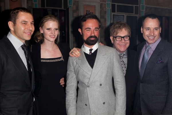 David Walliams, Lara Stone, Alexander Lebedev, Elton John and David Furnish