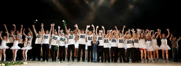 Billy Elliots take their bow at the Curtain Call at BILLY ELLIOT Celebrates Five Years In The West End