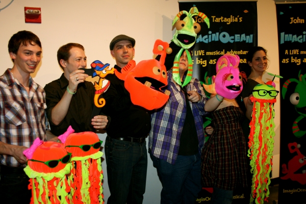 Jonathan Carlucci, Brian Carson, James W. Wojtal Jr, Ryan Dillon, Stacey Weingarten at Tartaglia's IMAGINOCEAN Opens Off-Broadway