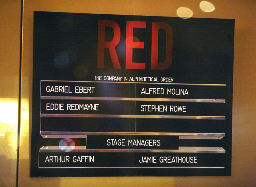 Photo Coverage: RED Opening Night Curtain Call