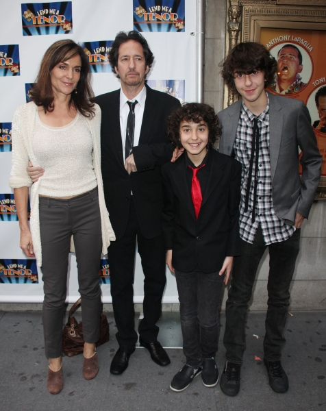 Polly Draper and Michael Wolff with their sons Nat Wolff and Kevin Wolff from the TV show The Naked Brothers Band