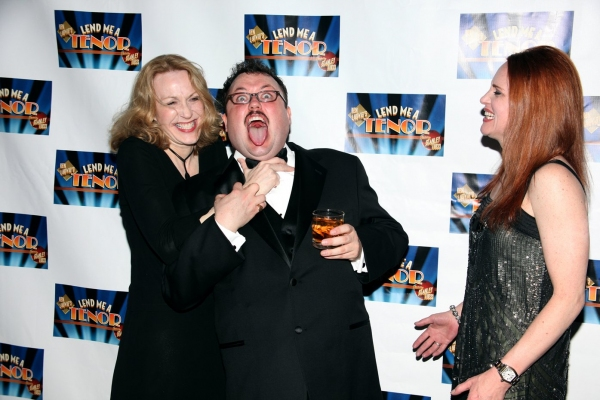Jan Maxwell, Jay Klaitz & Jennifer Laura Thompson at LEND ME A TENOR After Party
