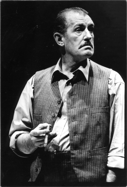 Corin Redgrave as Boss Whalen in the Alley Theatre's production of Not About Nightingales