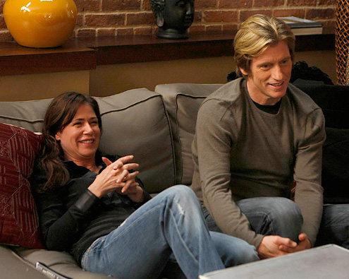 Maura Tierney and Denis Leary at Maura Tierney Returns to TV in 'Rescue Me'