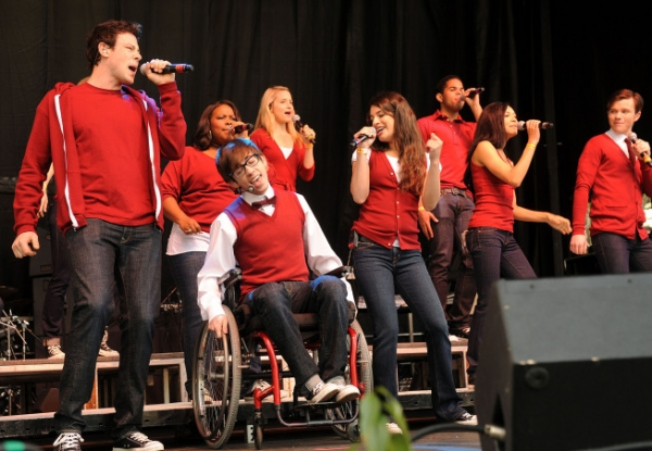 Cory Monteith, Amber Riley, Kevin McHale, Dianna Agron, Lea Michele, Dijon Talton, Naya Rivera and Chris Colfer