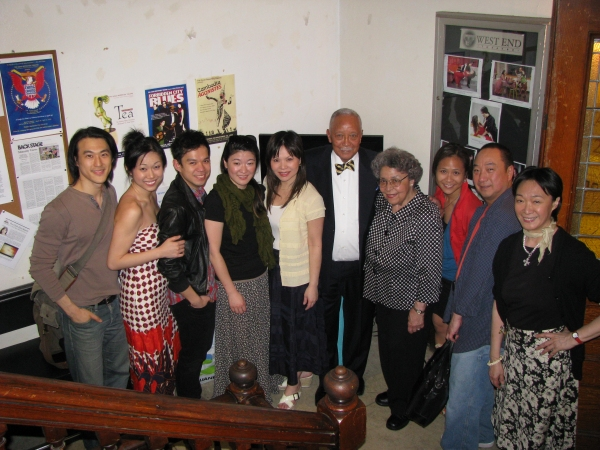 Mayor David Dinkins and Joyce Dinkins with the CHING CHONG CHINAMAN Cast