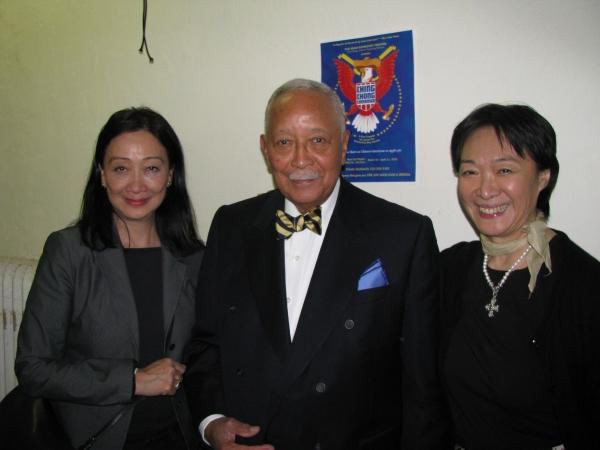 Photo Flash: Mayor David Dinkins Visits Pan Asian Rep's CHING CHONG CHINAMAN