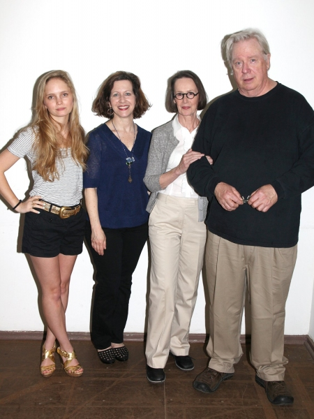 Halley Wegryn, Betsy Aidem, Susan Blommaert and Guy Boyd at  THE METAL CHILDREN Meet the Press