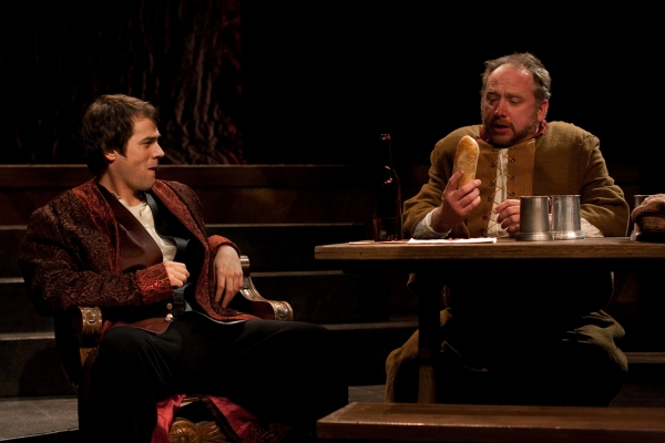 Allen Radway as Prince Hal and Peter Pryor as Sir John Falstaff.