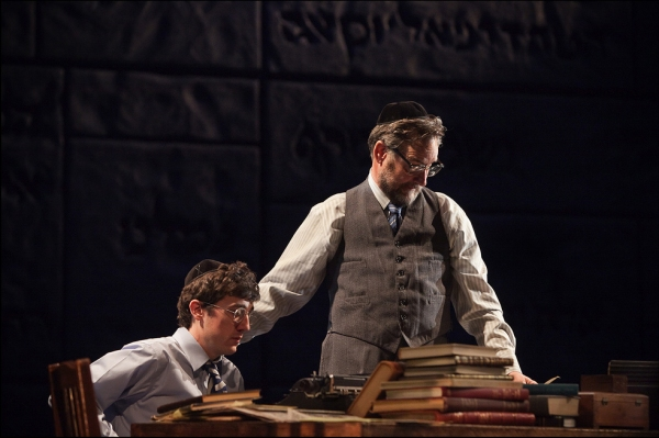 Carter Hudson and John Rothman at Portland Center Stage's THE CHOSEN