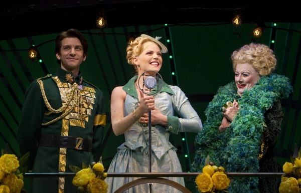 Andy Karl, Katie Rose Clarke and Rondi Reed