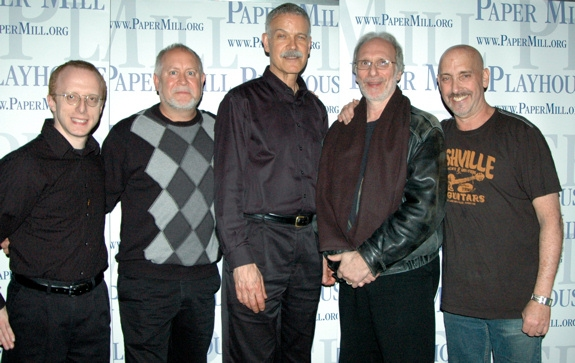 The on stage band-Ed Goldschneider, Steve Bartosik, Bill Strauss, Frank T. Basile, David Strauss