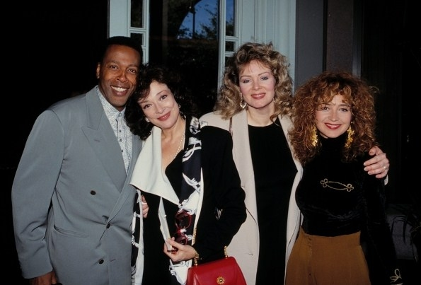 Meshach Taylor, Dixie Carter, Jean Smart and Annie Potts of DESIGNING WOMEN at the NATPE TV Convention  New Orleans. January 14, 1991 c. Walter McBride / Retna Ltd.