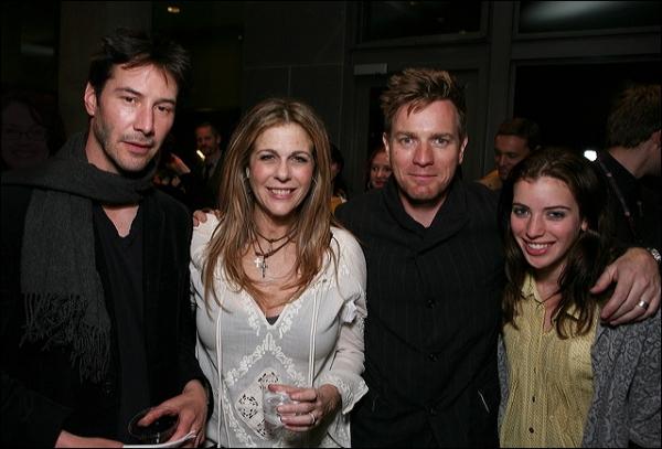 Keanu Reeves, Rita Wilson, Ewan McGregor and daughter Clara McGregor