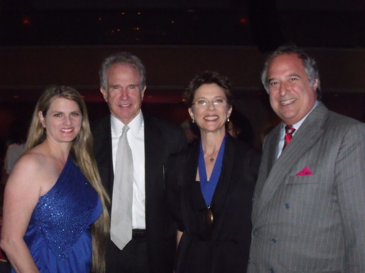 High Res Bonnie Comley, Warren Beaty, Annette Bening and Stewart F. Lane