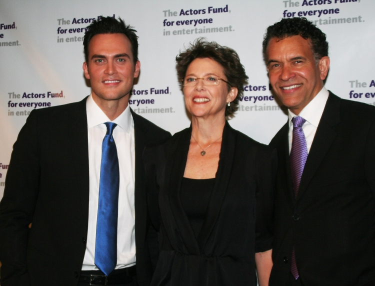 High Res Cheyenne Jackson, Annette Bening and Brian Stokes Mitchell