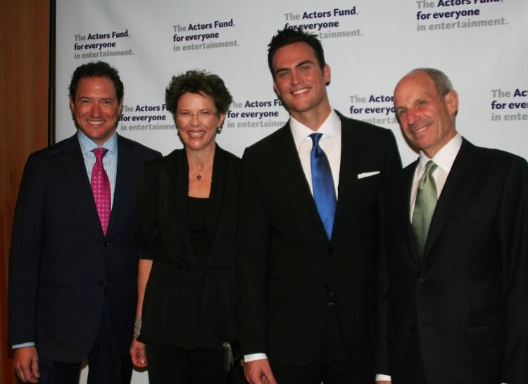 High Res Kevin McCollum, Annette Bening, Cheyenne Jackson and Jonathan Tisch