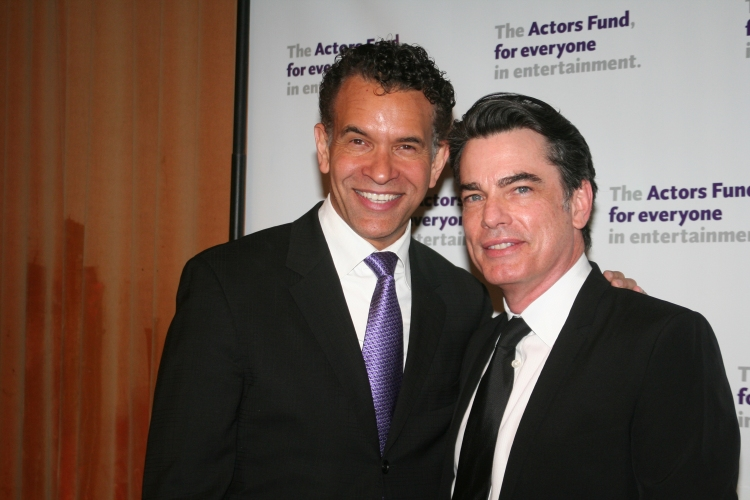 High Res Brian Stokes Mitchell and Peter Gallagher