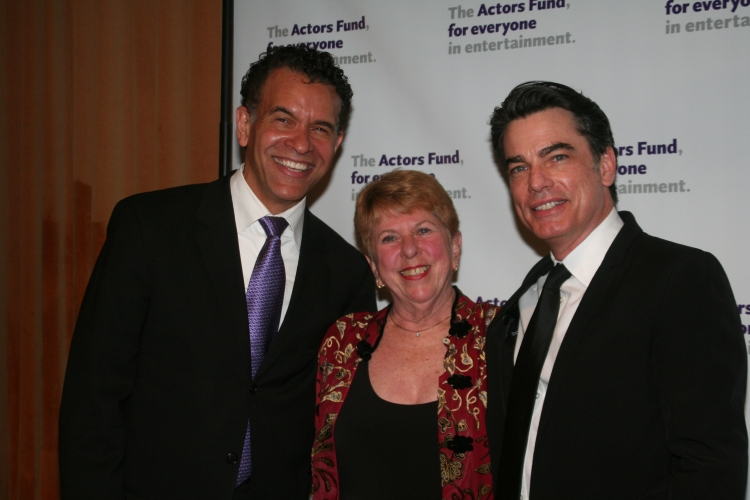 High Res Brian Stokes Mitchell, Abby Schroeder and Peter Gallagher