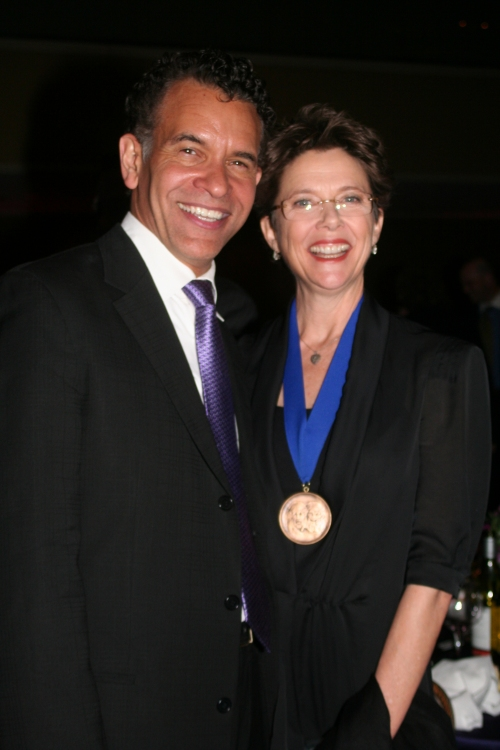 High Res Brian Stokes Mitchell and Annette Benning