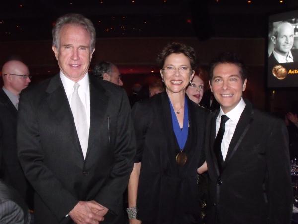 Warren Beaty, Annette Benning and Michael Feinstein at The Actors Fund 2010 Gala