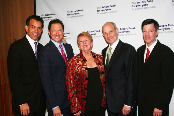 Brian Stokes Mitchell, Kevin McCollum, Abby Schroeder, Jonathan Tisch and Michael A.  Photo