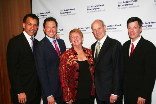Brian Stokes Mitchell, Kevin McCollum, Abby Schroeder, Jonathan Tisch and Michael A. Kerker