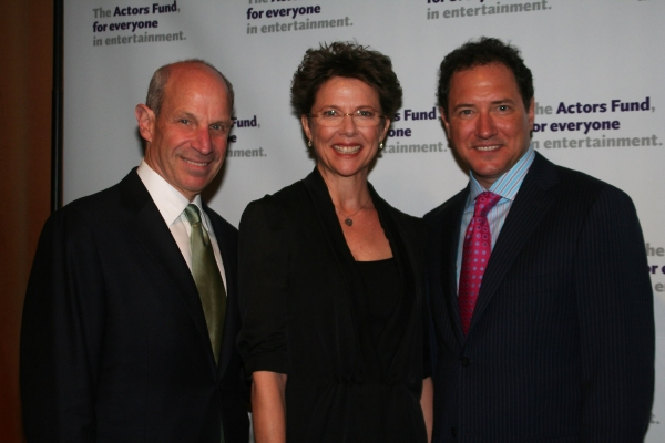 Jonathan Tisch, Annette Benning and Kevin McCollum at The Actors Fund 2010 Gala