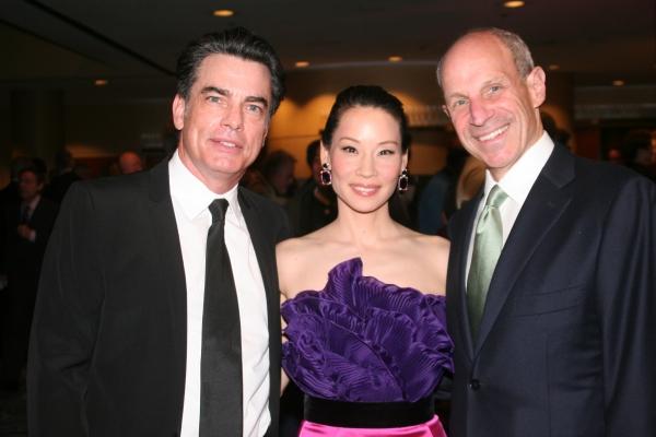 Peter Gallagher, Lucy Liu and Jonathan Tisch