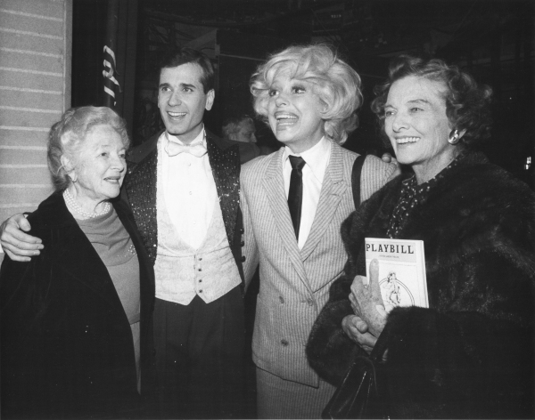 Helen Hayes, Lee Roy Reams, Carol Channing and Myrna Loy
