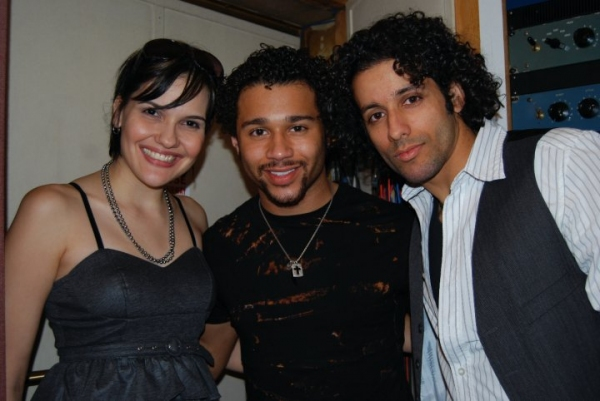 Denisse Ambert with Corbin Bleu and CD Creative & Executive Producer Luis Salgado