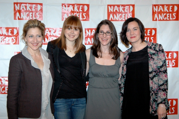 Edie Falco, Alison Pill, Anne Kauffman, and Chloe Moss