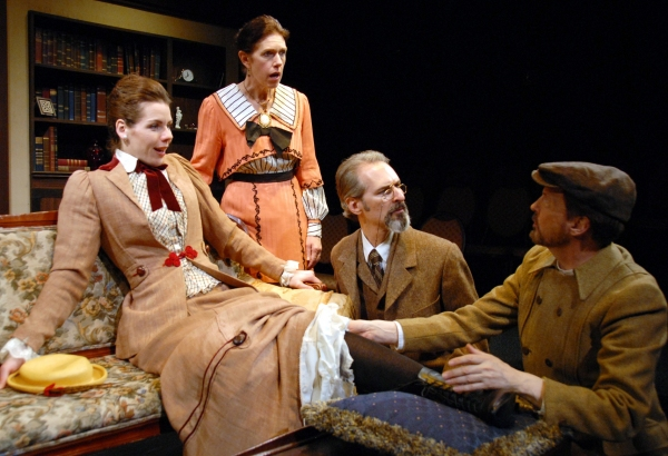 Claire Warden as Charlotte Payne-Townshend, Jamee Vance as Beatrice Webb, Marc Geller as Sidney Webb, and Warren Kelley