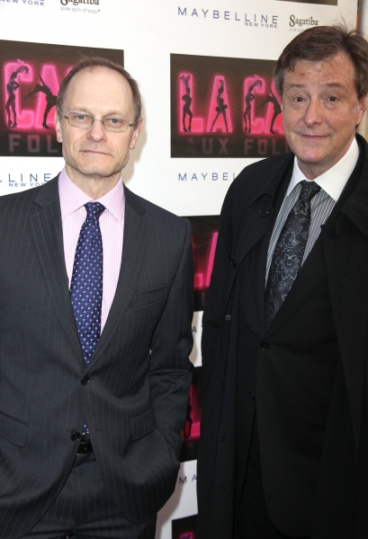 David Hyde Pierce & Brian Hargrove at LA CAGE AUX FOLLES Opening Night Red Carpet!