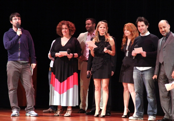 Mary Testa, David Alan Basche, Kelli O'Hara, Lauren Ambrose, Paul Rudd, Ned Eisenberg
