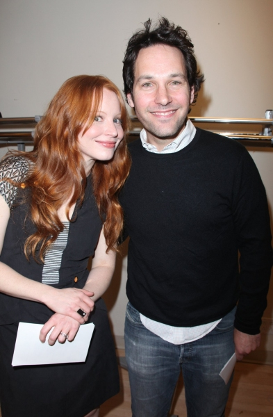 Lauren Ambrose and Paul Rudd