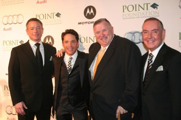Carl Strictland, Dave Koz, David Mixner and Bruce Lindstrom