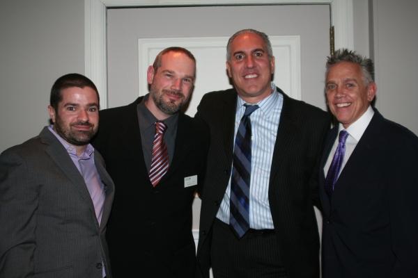 George Cominskie, Steven Eliades, Point Foundation's Managing Developement Director Michael Marino and Scott Slatin