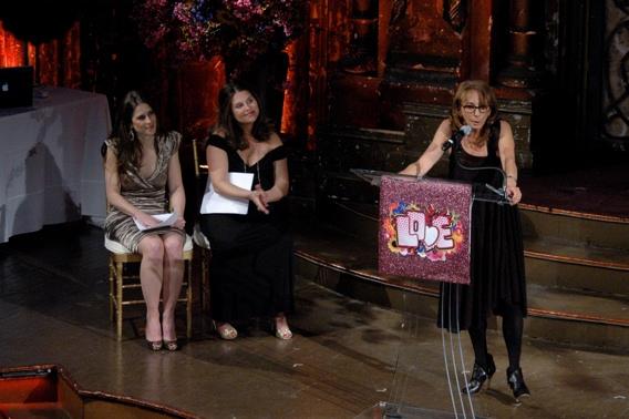 Victoria Pettibone, Sasha Eden and Lynda Obst-award honoree