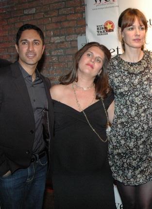 Maulik Pancholy, Sasha Eden and Rosemarie DeWitt