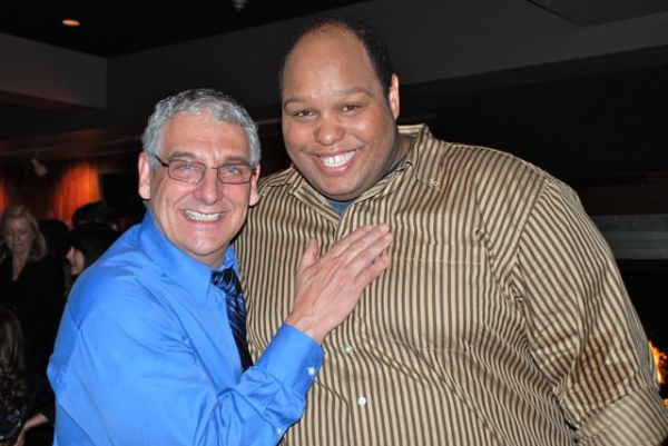 Director Glenn Casale with performer Arthur L. Ross