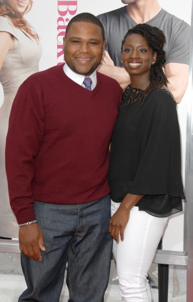 Anthony Anderson and Guest at 'The Back Up Plan' Premieres in Los Angeles