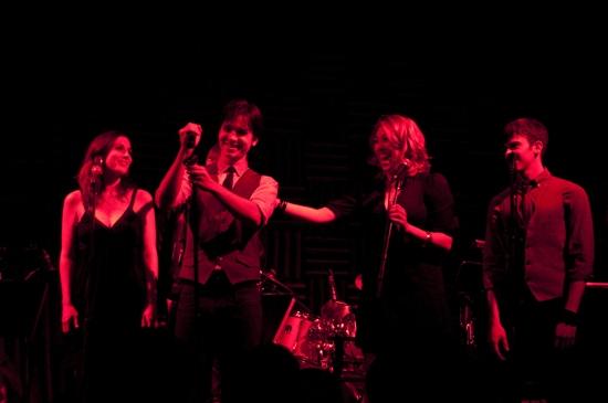 Matt Doyle & Geoff Kidwell, Anna Ty Bergman, Katie Gassert and Jeff Cuttler at Matt Doyle Plays Joes Pub Feat. Damiano, Taylor & Hunton