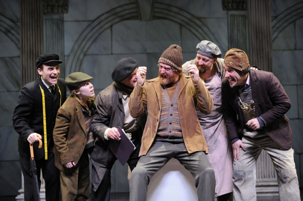 Mitch McCarrell as Starveling; actor Erin Childs as Snug; actor Dudley Swetland as Quince; actor David Anthony Smith as Bottom; actor, Lynn Robert Berg as Snout; and actor M.A. Taylor