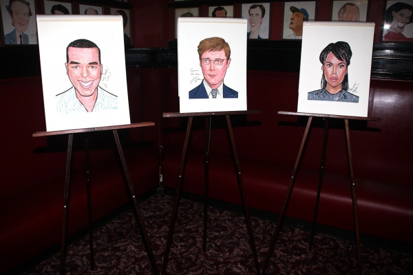 Sardi's Portraits of RACE's David Alan Grier, James Spader and Kerry Washington at RACE Stars Receive Sardi's Portraits