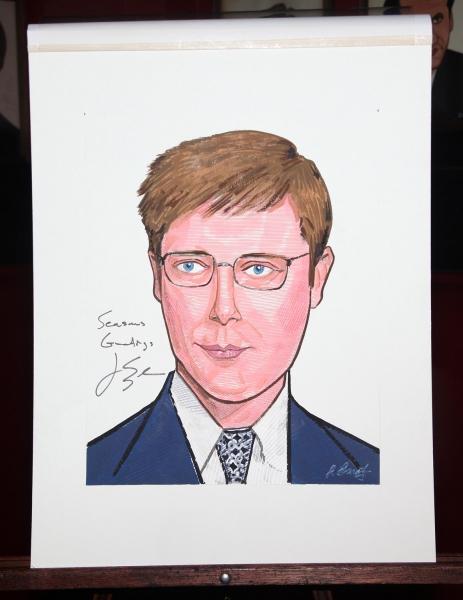Sardi's Portrait of James Spader at RACE Stars Receive Sardi's Portraits