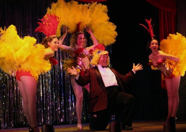 Daisy Macklin Skarning, Emily Rose Skinner, Stacia Rice, & Scott Jorgenson at Opening Night at History Theater' QUEENS OF BURLESQUE, 4/24-5/23
