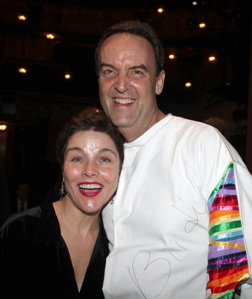 Dale Hensley (Gypsy Winner- La Cage) & Christina Andreas at LA CAGE AUX FOLLES Gypsy Robe Ceremony!