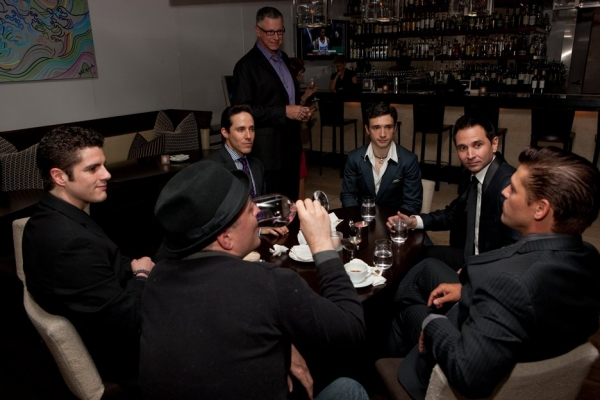 Peter Saide, Jeff Leibow, a guest, Rick Faugno, Travis Cloer and Deven May